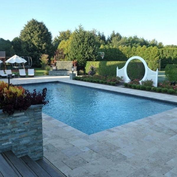 20 X 40 Gunite Pool With Black Slate Tile Southampton Long Island