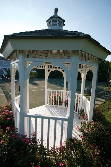8' x 8' Cedar Gazebo with Cupola and outdoor fan/light - Southampton, Long Island NY
