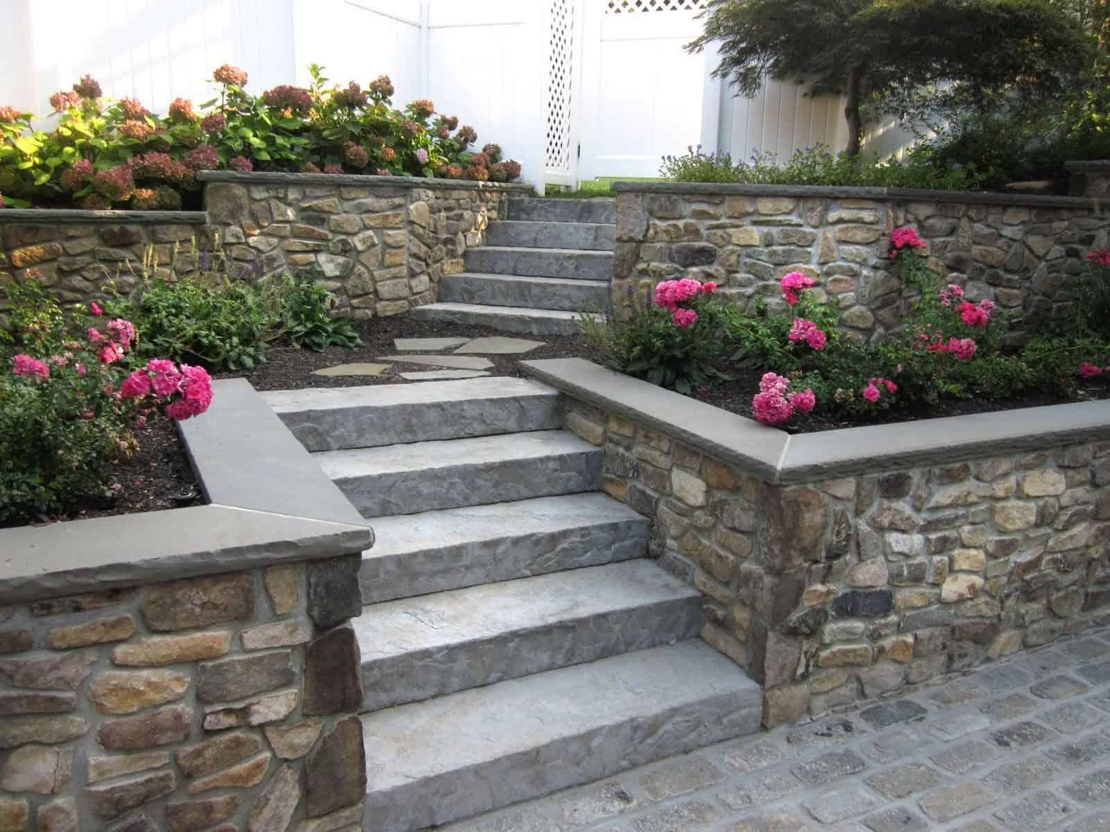 Landscape Design Custom Masonry Retaining Walls