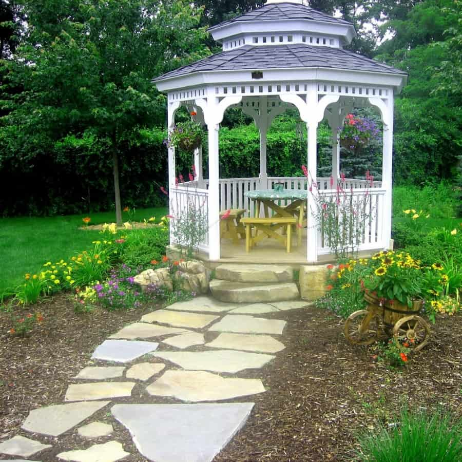 10' x 10' Cedar Gazebo with Cupola - West Islip, Long Island NY