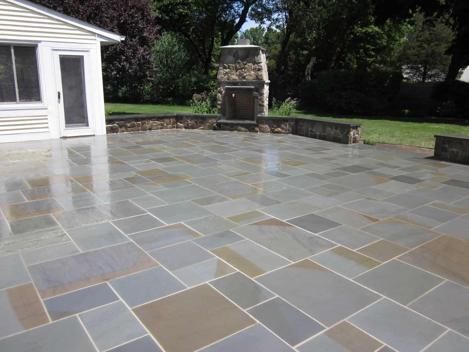 Natural Stone Patio   New York State Bluestone Patio   Random Pattern With  Joints   Huntington