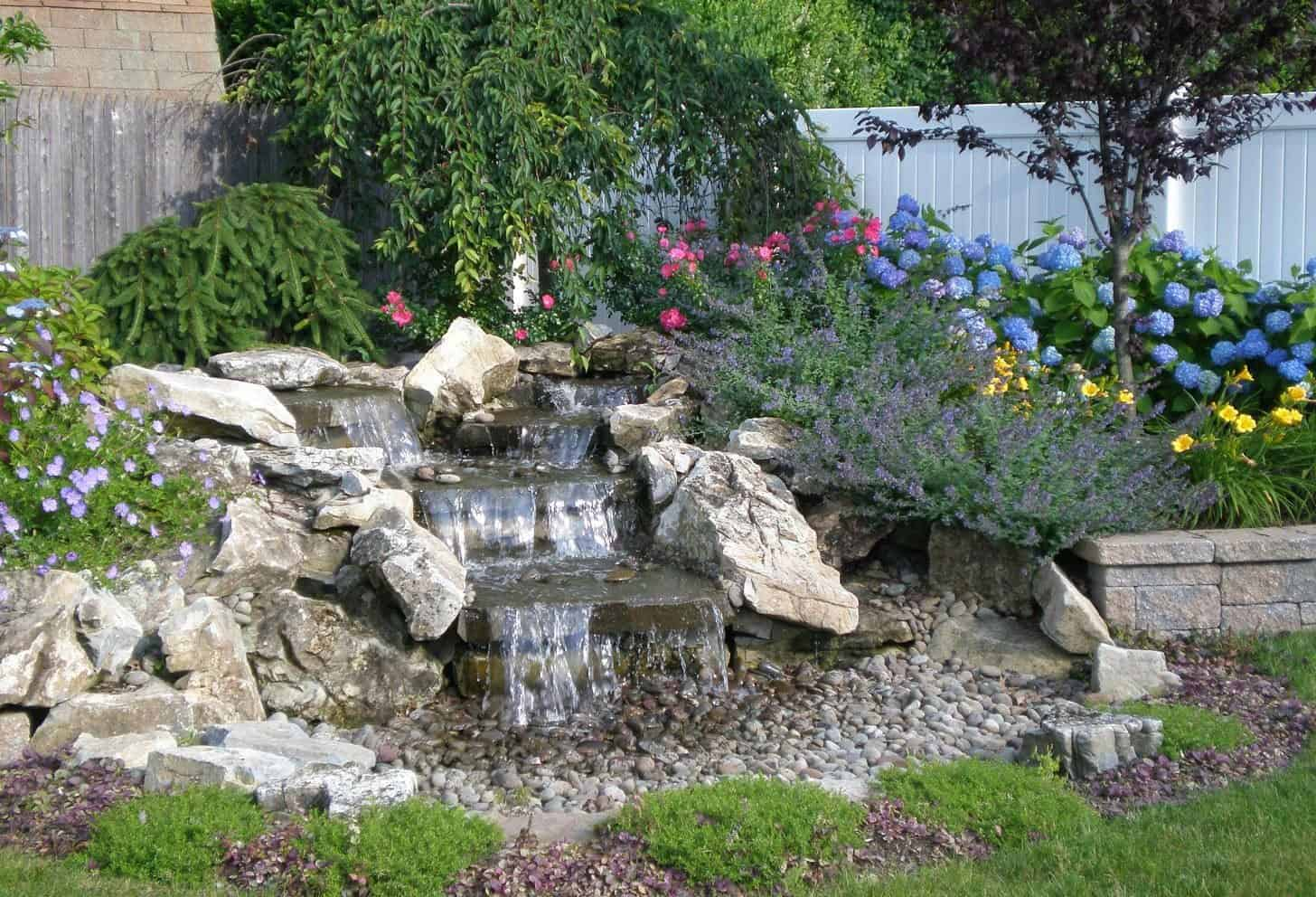 5' Moss Rock Pondless Waterfall - Massapequa, Long Island NY